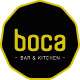 Logo Boca bar en kitchen Houten